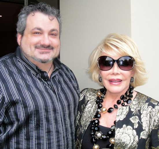 Diva Shulman and Joan Rivers